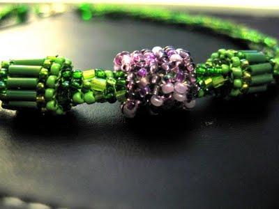 Collier vert Herringbone