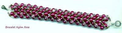 Bracelet Rose Nylon