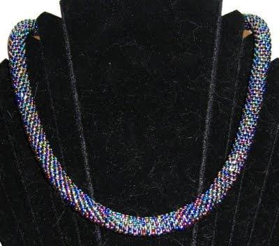 Collier en crochet perlé