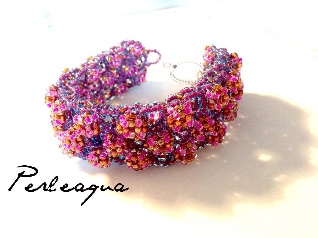 """Bracelet """"Ootheca"""" en rocailles"""