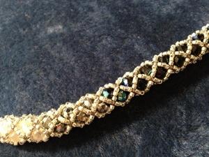 Bracelet Bangle en facettes et delica 11/0