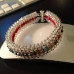 Bracelet RAW Recto Verso – argenté et rouge Crystal Swarovski