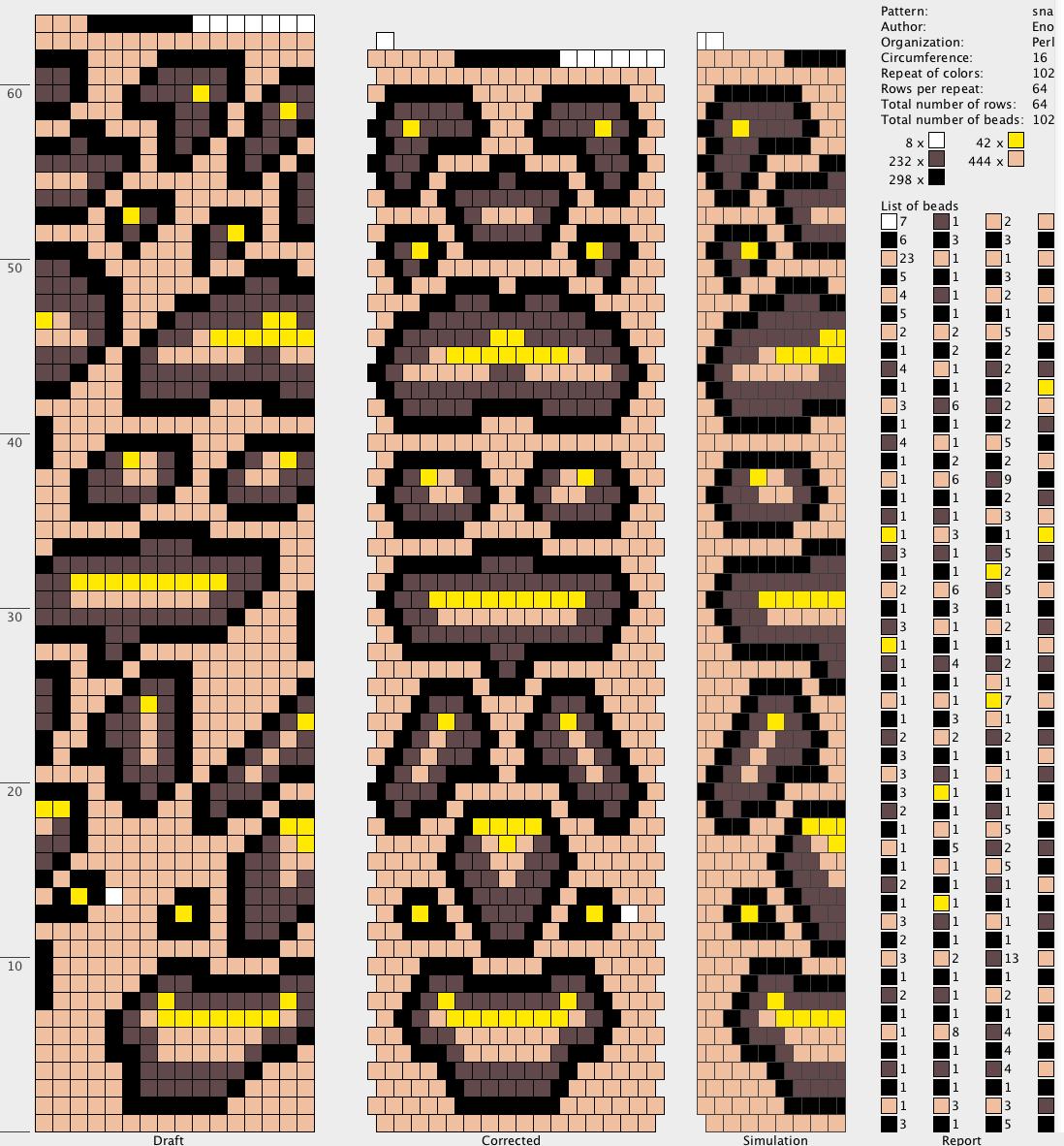 Shéma crochet spirale Serpent - Pattern - Crochet Snake