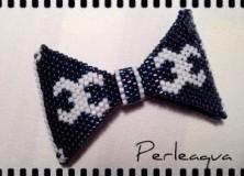 Nœud papillon en perles delica (bow tie beaded)