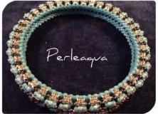 Bracelet bangle (honeycomb) bleu