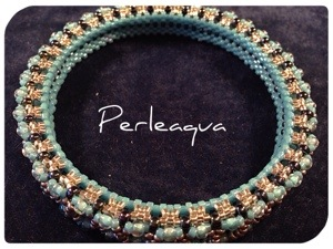 Bracelet bangle (honeycomb) bleu