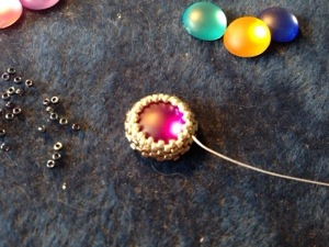Projet de bracelet en cabochon sertis