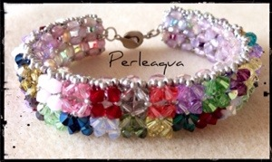 "Bracelet en Swarovski ""last kisses of summer"""