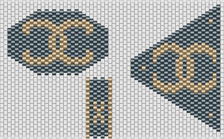 Pattern logo Chanel CC - Schéma Chanel noir et doré