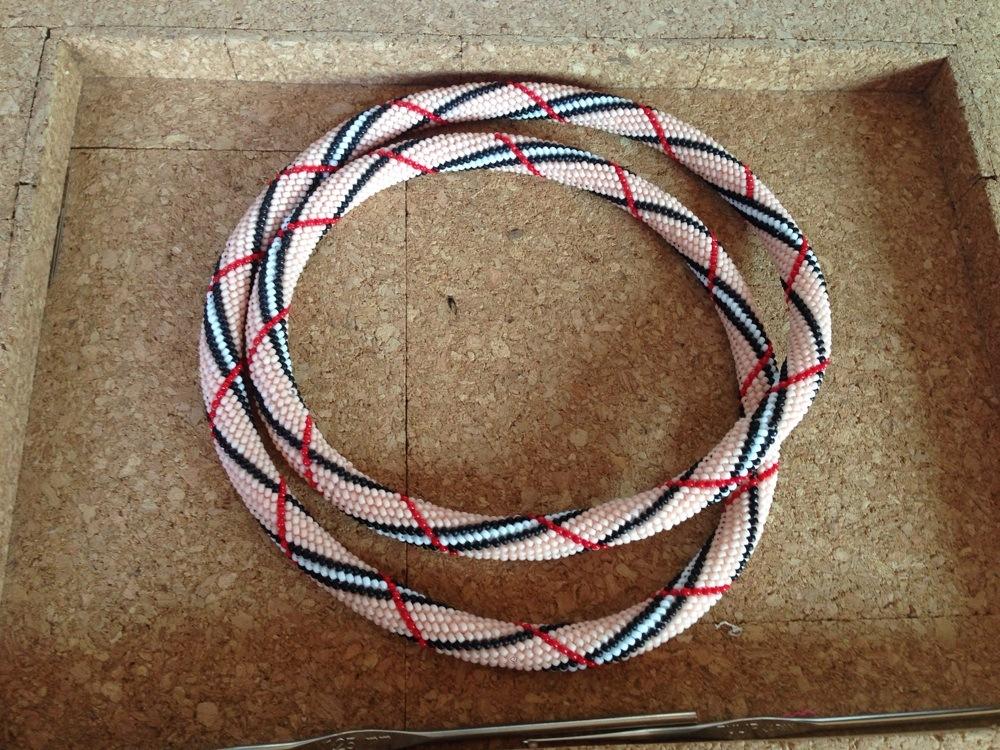 Spirale au crochet motif Burberry